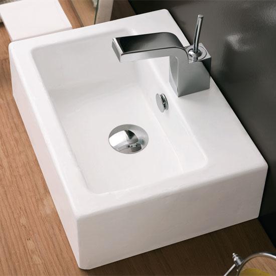 Lavabi appoggio lavabo appoggio quadro 40x30 - Lavabi bagno appoggio ...