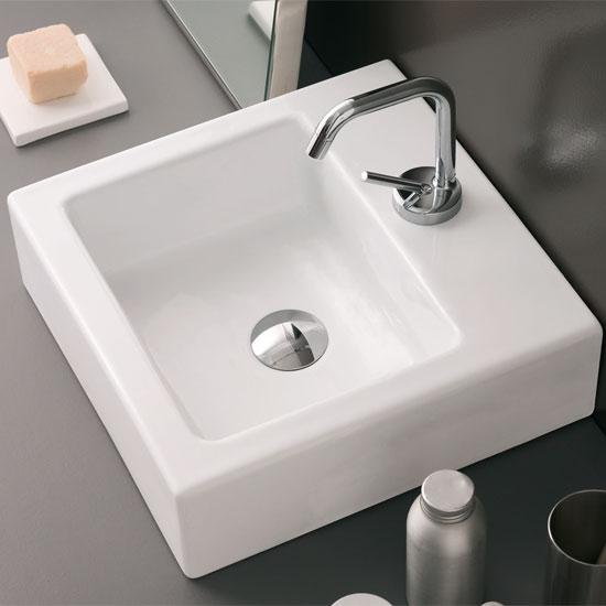 Lavabi da appoggio in ceramica prezzi e offerte on line for Porta quadro da appoggio