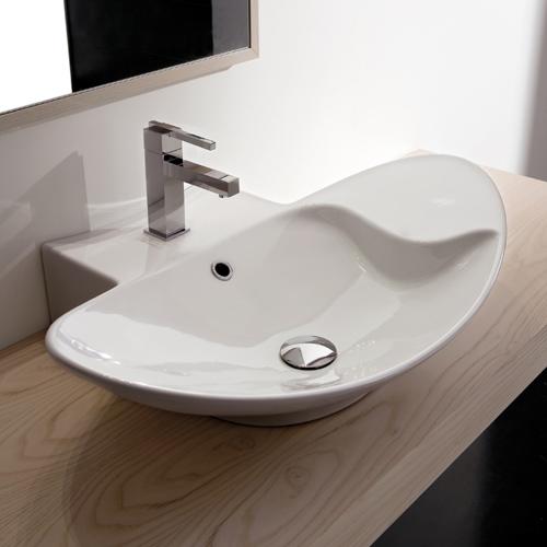 Lavabi appoggio lavabo appoggio zefiro 70 r mensola - Mensola bagno appoggio lavabo ...