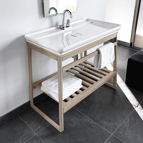 Mobili bagno lavabo appoggio naked con trapezio rovere for Mobile lavabo appoggio