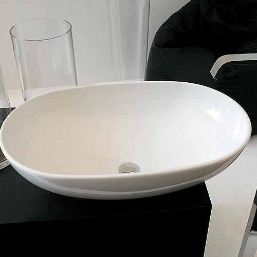 Lavabi appoggio lavabo appoggio la ciotola 70 for Lavandino appoggio
