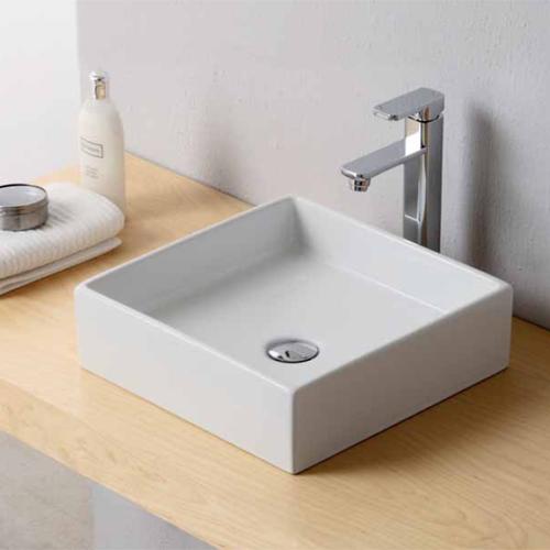 Lavabi appoggio lavabo appoggio square 40x40 - Accessori bagno in ceramica da incasso ...