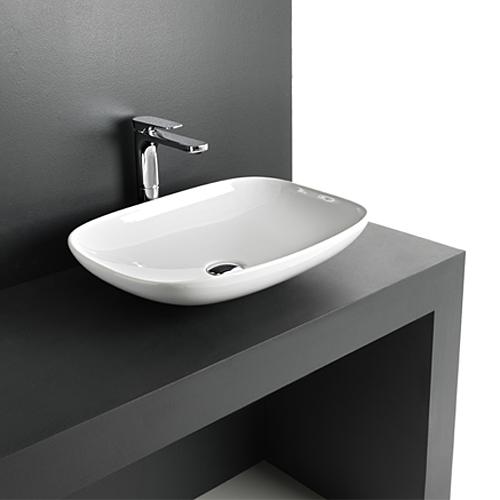 Lavabo d 39 appoggio la fontana 55 - Lavabo bagno appoggio ...