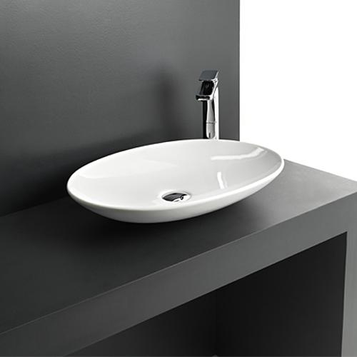 Lavabi appoggio lavabo d 39 appoggio 60 la fontana - Piano d appoggio per lavabo ...