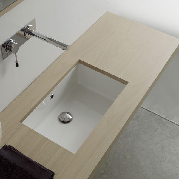 Lavabi A Incasso Dimensioni.Lavabo Sottopiano Rettangolare 47x30 Miki