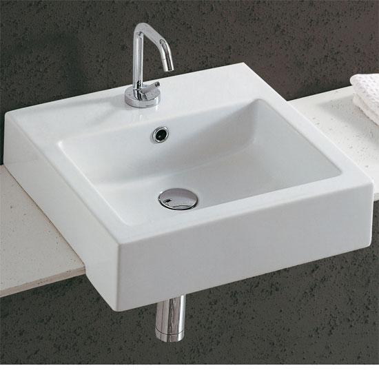 Lavabi incasso lavabo semincasso quadro 47x47 - Lavabo bagno semincasso ...