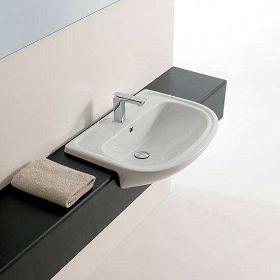Lavabi incasso lavabo semincasso apollo 66 - Misure lavabo bagno ...