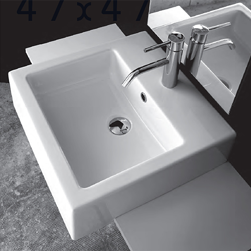Lavabi incasso lavabo semincasso quadro 47 - Misure lavabo bagno ...