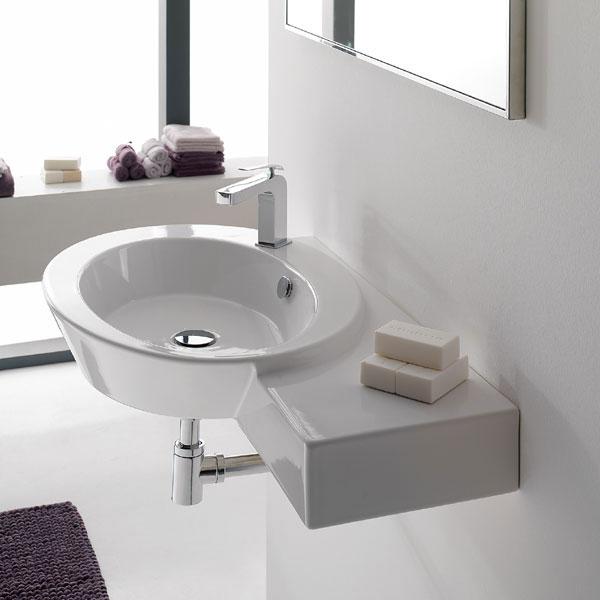 Lavabi sospesi lavabo sospeso mensola dx wish for Mensola lavabo