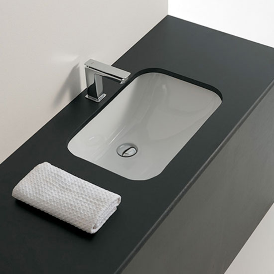 Lavabi incasso lavabo sottopiano nettuno 55 - Misure lavabo bagno ...