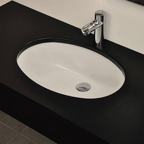 Lavabo sottopiano ovale 46x38 oval - Misure lavabo bagno ...