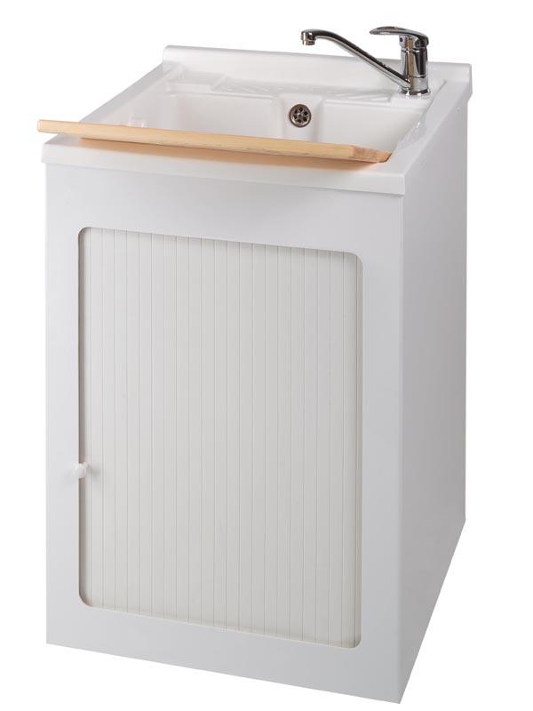 mobile lavatoio e lavastoviglie : Lavatoio in acrilico e mobile 50x50 Delfino