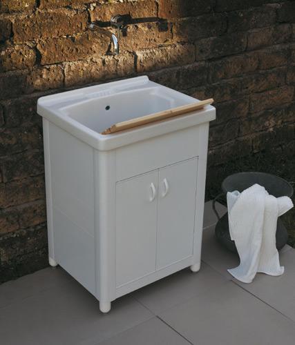 Lavatoio per esterno in ceramica onda 60x50 con vasca profonda ebay - Mobile con lavatoio per esterno ...