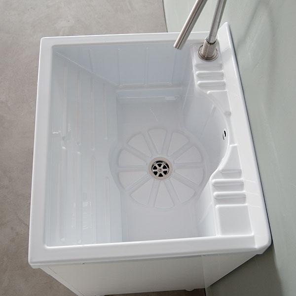 Lavatoio In Ceramica Con Rubinetto.Lavatoio Con Mobile 60x50 Lemon
