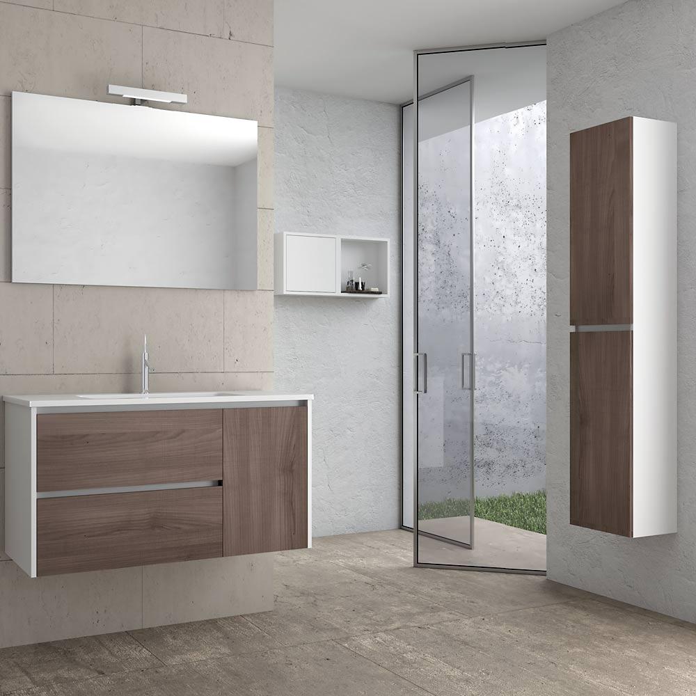 Mobile bagno sospeso con Specchio 100 Luis