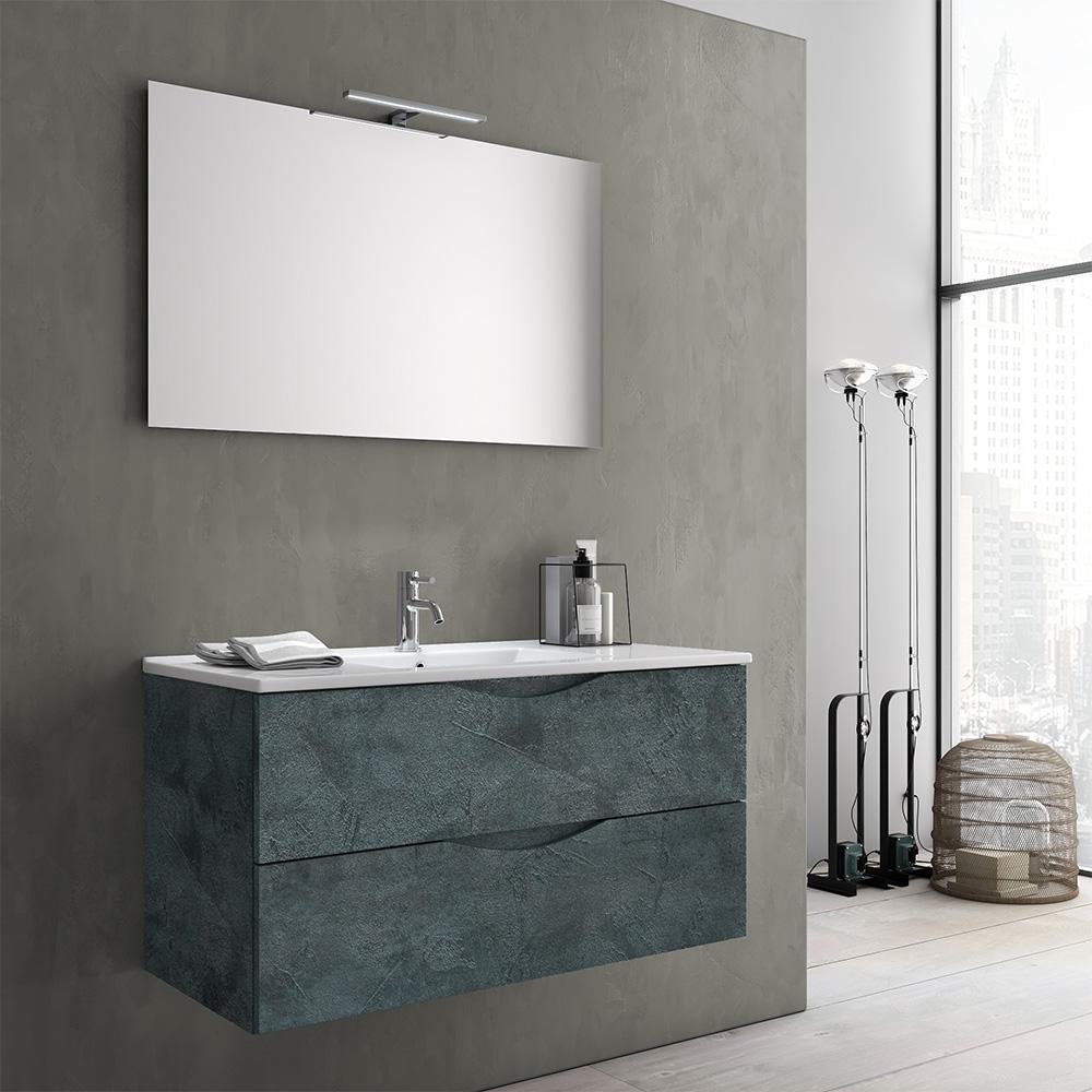 Mobile bagno moderno 100 cm marte offerta on line tft home forniture - Tft arredo bagno ...