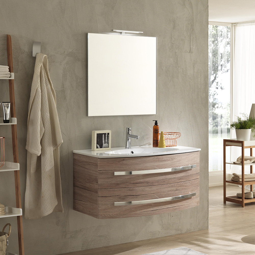 Mobile Bagno Moderno 100 cm Monica Offerta On Line | TFT Home Forniture