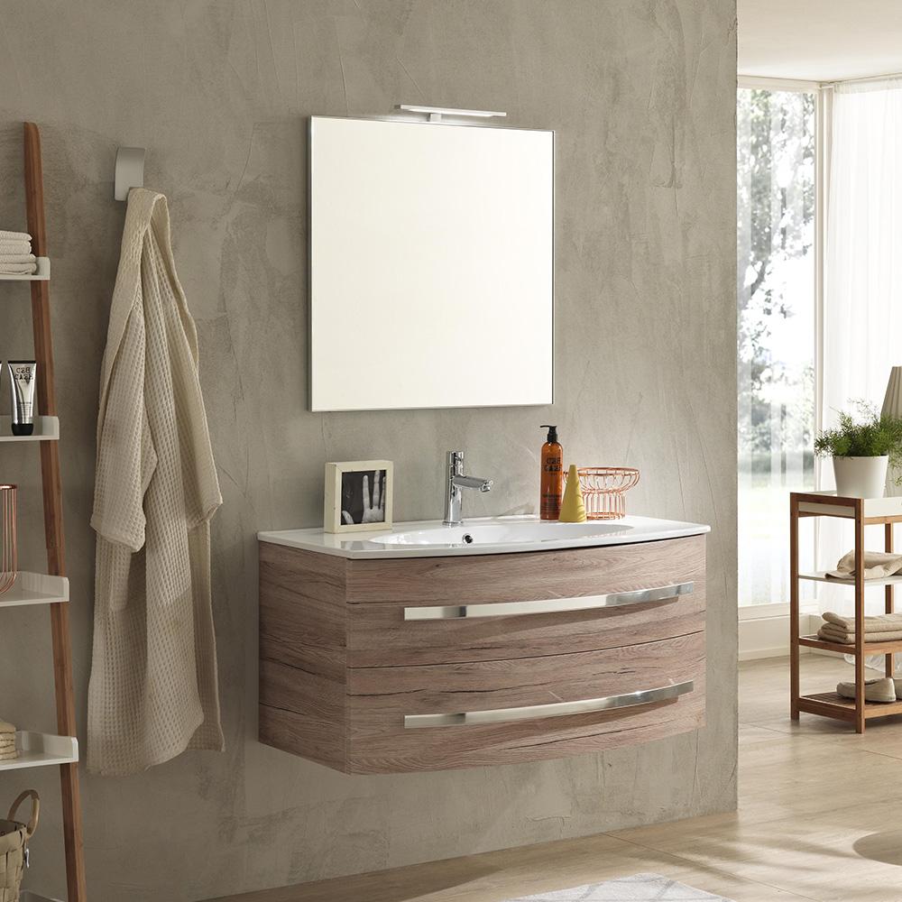 Mobili Bagno Moderni In Offerta.Mobile Bagno Moderno 100 Cm Monica Offerta On Line Tft Home Forniture