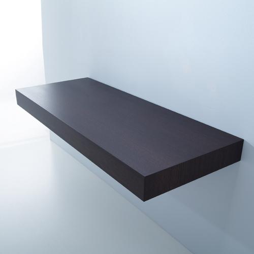 Piano Lavabo: Mensola sospesa con staffe 180 Wengè