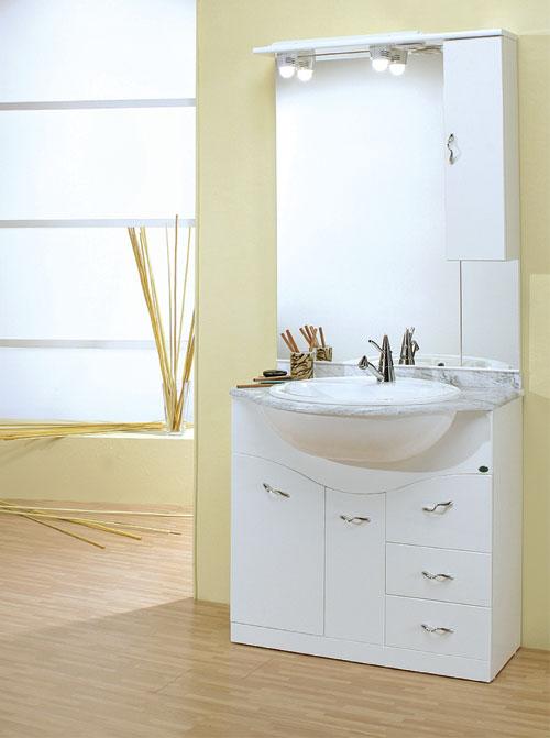 Arredo bagno economico mobile bagno 60 onda con cassetti - Mobile cassetti bagno ...