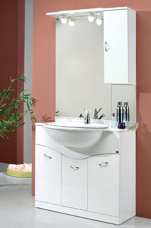 Mobile Bagno Onda: Mobile Bagno Doppio Lavello: bagno pensile bianco da cm a.