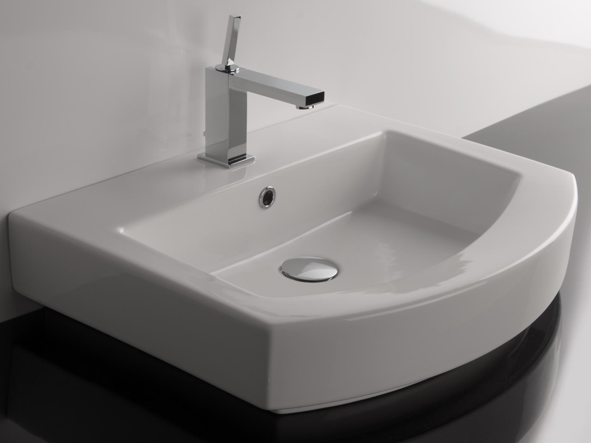 lavabo sospeso moon asimmetrico : Lavabi Sospesi : Lavabo sospeso Moon 60