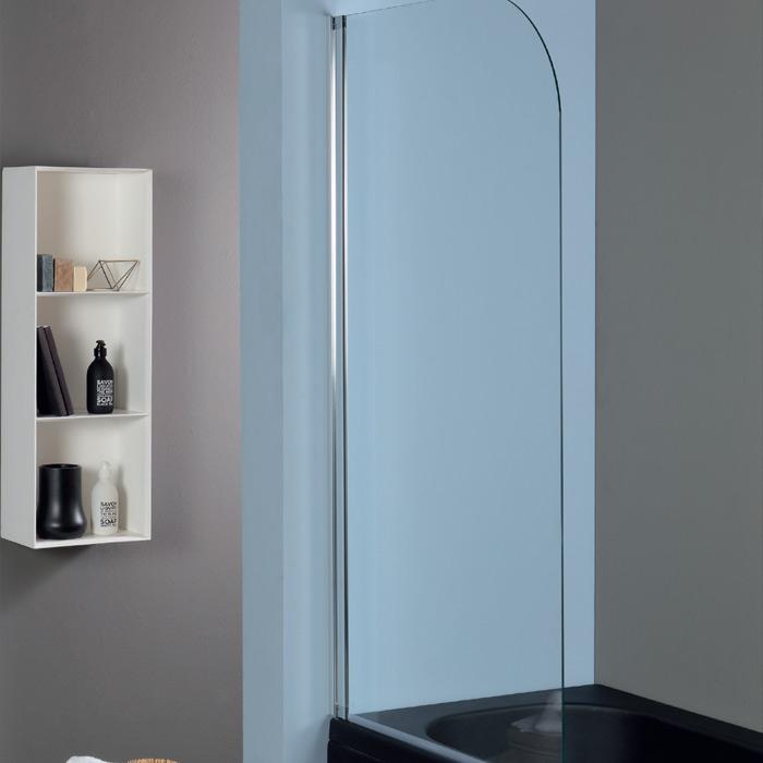 Pareti vasca sopravasca anta battente 75xh140 cm - Parete vasca da bagno ...