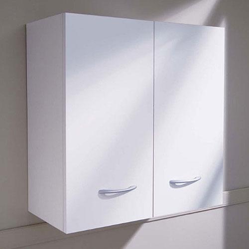Pensile bagno o lavanderia 57x58 a due ante bianco