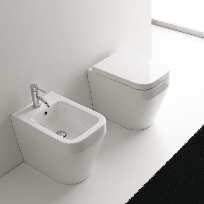 sanitari bagno a terra aliseo nero ceramica
