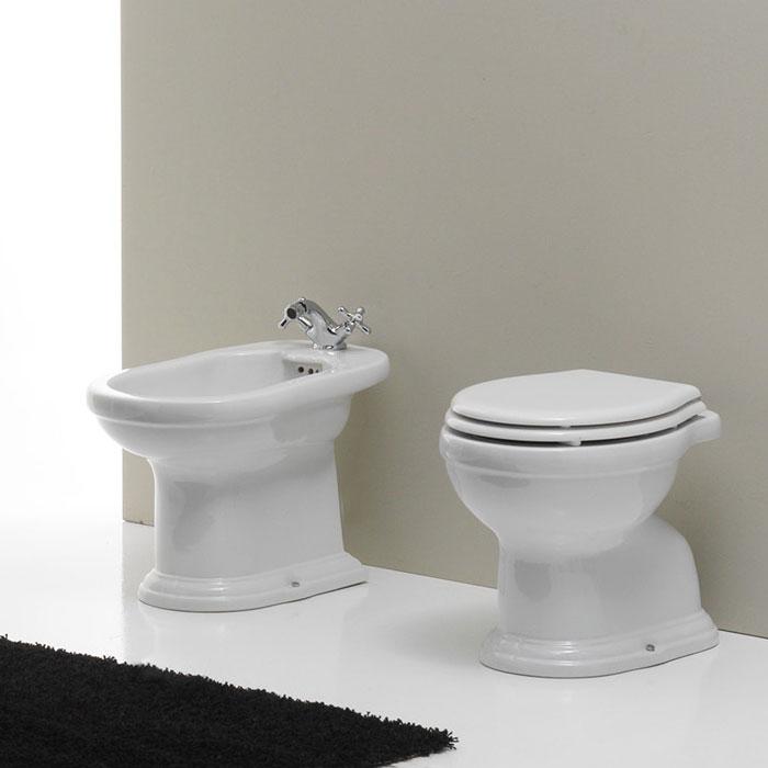 sanitari bagno a terra roma nero ceramica
