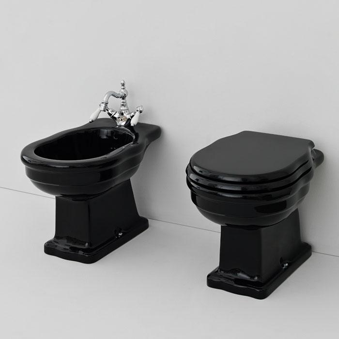 Sanitari colorati sanitari bagno a terra serie hermitage nero lucido - Bagno neri viserbella ...