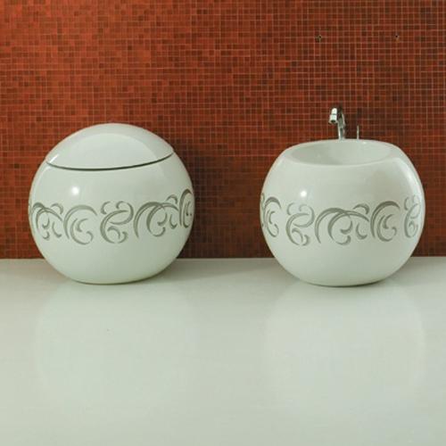 Disegno Ceramica Serie Sfera.Sanitari Decorati Disegno Ceramica