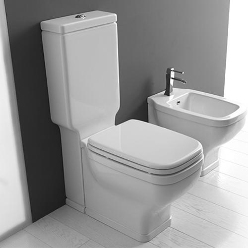 Sanitari bagno a terra pavimento wc e bidet in coppia - Sanitari bagno misure ridotte ...
