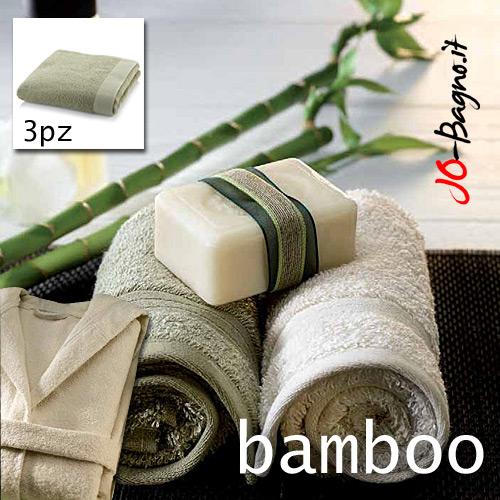 Accessori Personali : Set accessori bagno Bamboo Sinergy