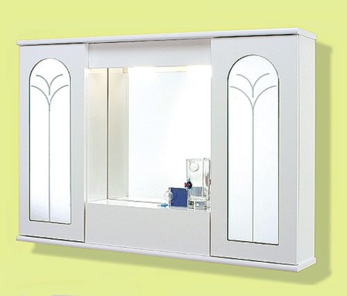 Specchi specchiera 90 2 ante specchio palma con ribalta - Specchio con ante per bagno ...