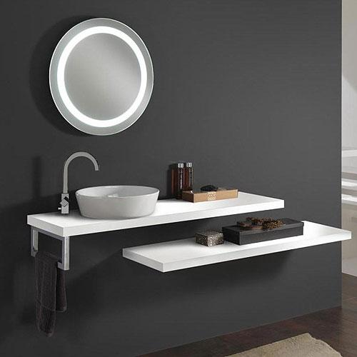 Mensola bagno appoggio lavabo termosifoni in ghisa for Mensola laccata bianca