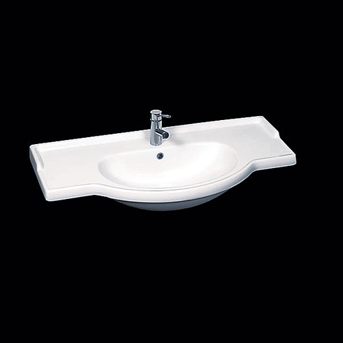 Top lavabo integrale semincasso Equa 95