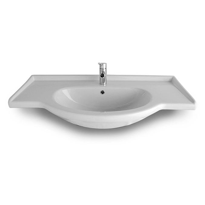 Lavabi incasso top lavabo integrale semincasso combi 124 - Misure lavabo bagno ...