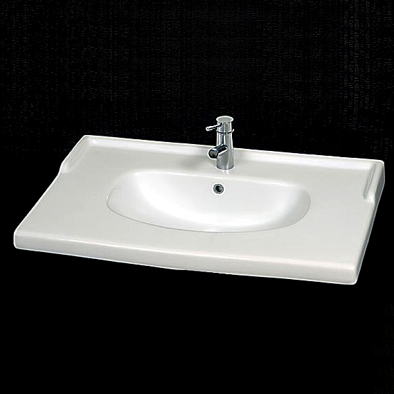 Lavabi incasso top lavabo integrale incasso quadra 89 - Top lavabo bagno ...