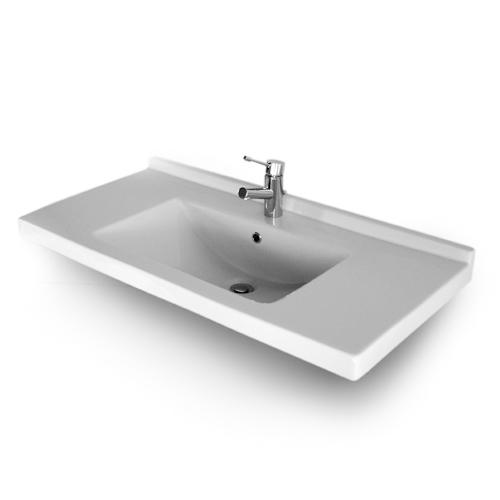 Lavabi incasso top lavabo integrale incasso liberty 105 - Top lavabo bagno ...