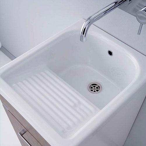 Lavatoi in ceramica vasca lavapanni con mobile mosella 44x52 - Lavatoio ceramica con mobile ...