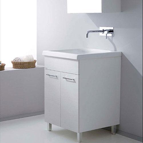 lavatoi in ceramica : vasca lavapanni con mobile dordogne 60x50 - Jo Bagno It Arredo Bagno E Sanitari In Ceramica