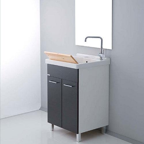 Lavatoi in ceramica vasca lavapanni con mobile reno 60x50 - Lavatoio ceramica con mobile ...