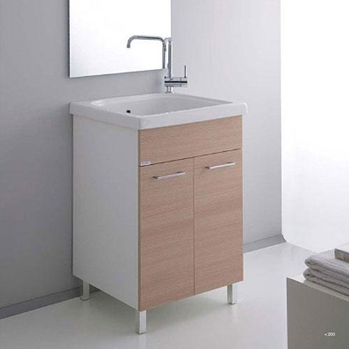 Lavatoi in ceramica: Vasca lavapanni con mobile Loira 60x60