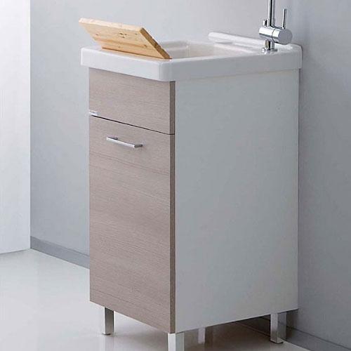 Lavatoi in ceramica: Vasca lavapanni con mobile Ticino 45x50