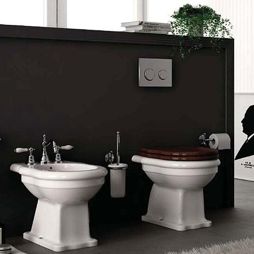 Sanitari bagno a terra classici ellade hidra ceramica - Sanitari bagno classici ...