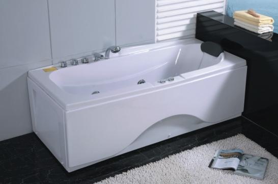 Vasche rettangolari vasca idromassaggio rettangolare 170x78 sara - Vasche da bagno rettangolari ...