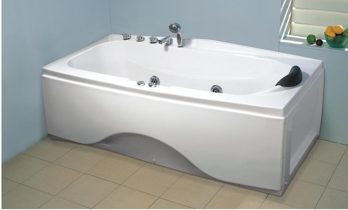 Vasche rettangolari vasca idromassaggio rettangolare 170x78 sara - Misure vasche da bagno rettangolari ...