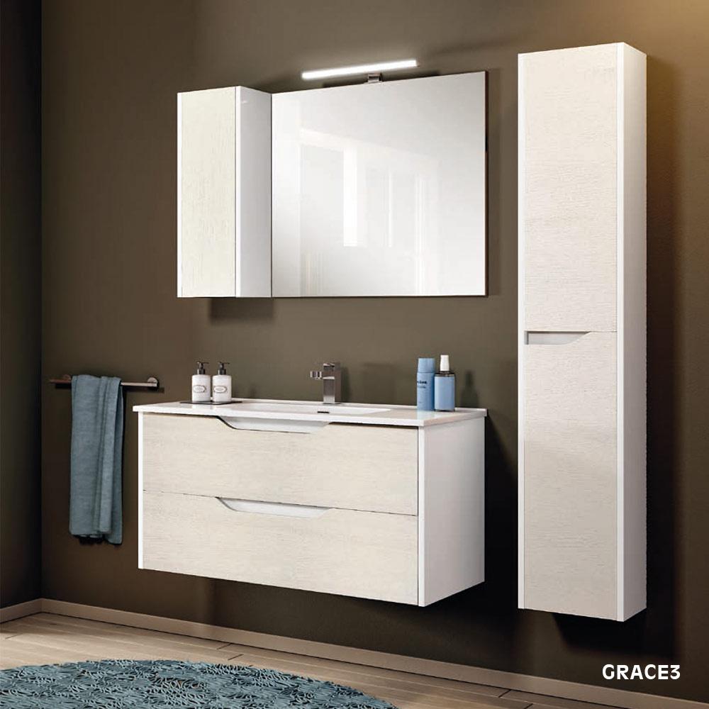 Mobile Sotto Mensola Bagno mobile bagno economico sospeso 80 con specchio grace3