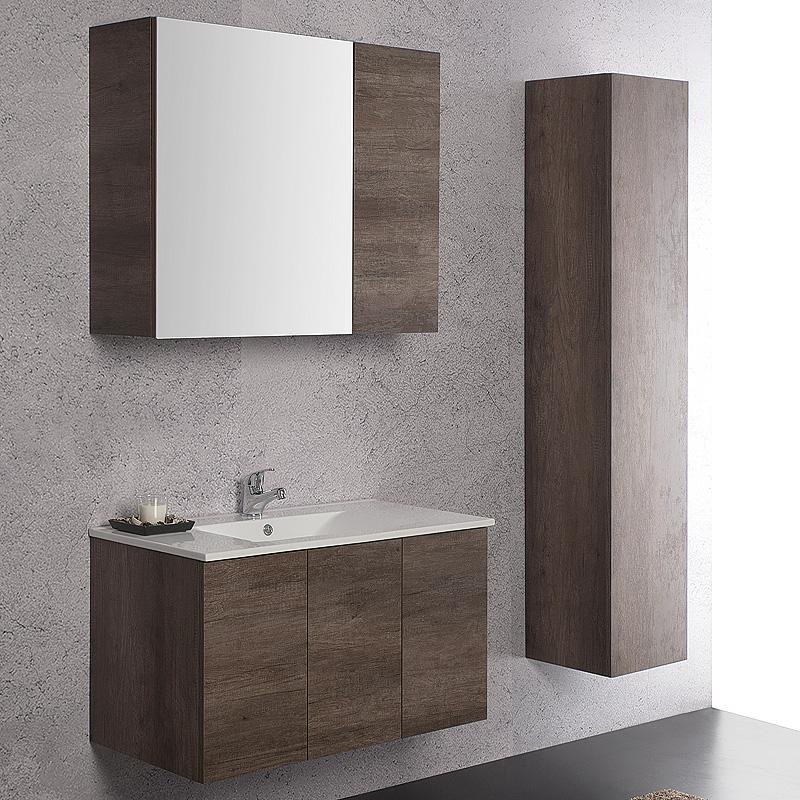 Arredo moderno arredo bagno sospeso unika 90x45 for Composizione bagno